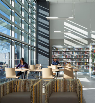 Aama Case Study Natural Interior Delight Brings Light To Berkeley West Library