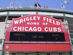Wrigley Field Sign | Chicago Cubs Game