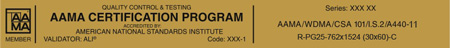 AAMA Certification Program Gold Label | NAFS 2011