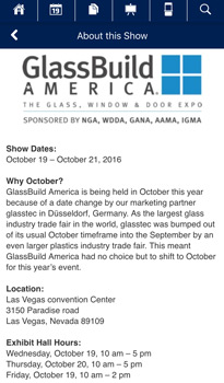 GlassBuild America app About the Show