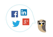 RSS Hootsuite logo with social media logos