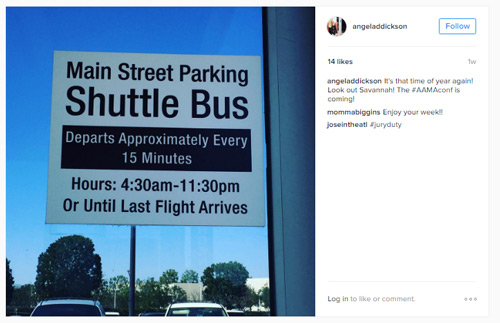 Instagram post | Shuttle bus sign