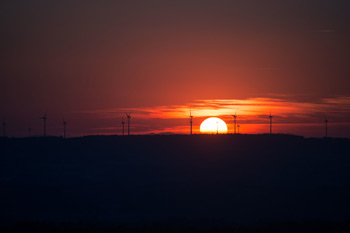 Sunset | Windmills | Energy Efficient