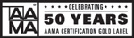 AAMA 50 Years of Certification Label Logo