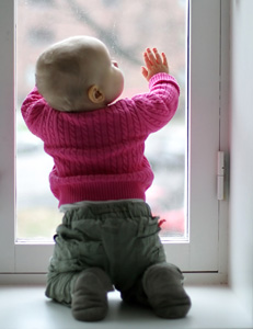 Window Safety Week | Baby by Window